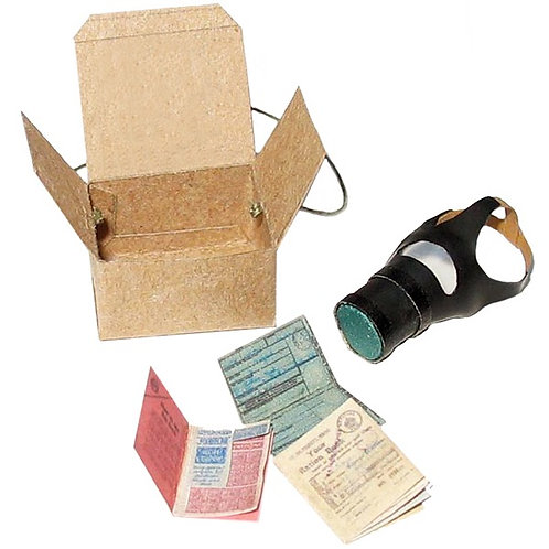 1/12th Scale Gas Mask & Documents Kit