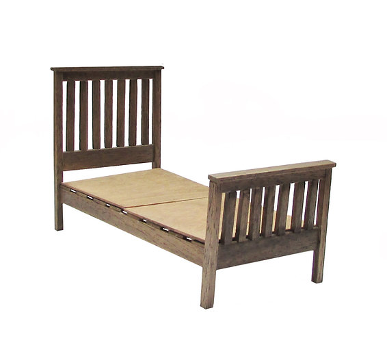 1/12th Scale Slatted Single Bed Kit