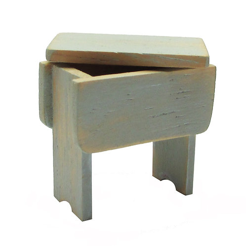 1/12th Scale Stool with Lifting Lid