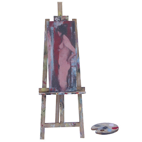 1/24th Scale Artist's Easel & Pallet Kit