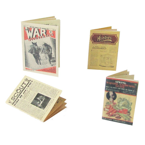 1/12th Scale Wartime Magazines Kit