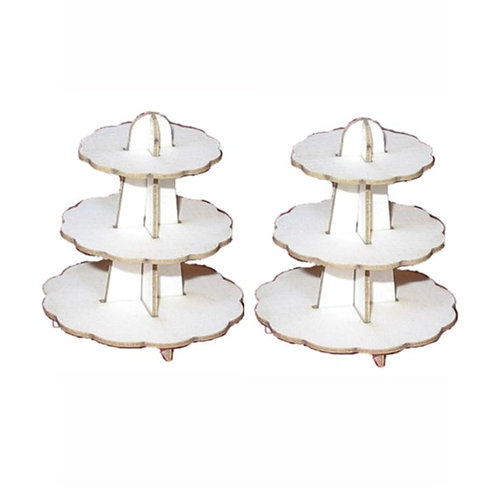 1/24th Scale Two Cake Stands Kit