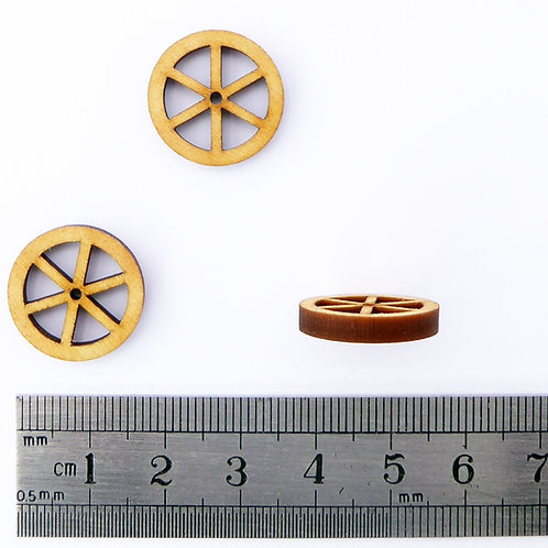 18mm Wooden Spoke Wheels