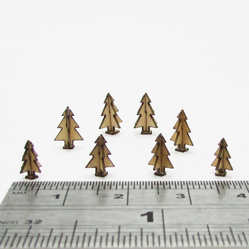 1/48th Scale 3D Wooden Trees Kit