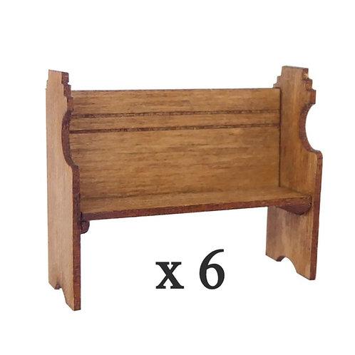 1/48th Scale Six Pew Kits