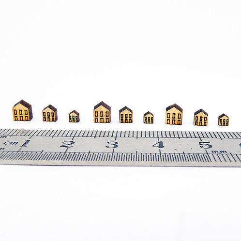1/48th Scale Tiny Wooden Houses Kit