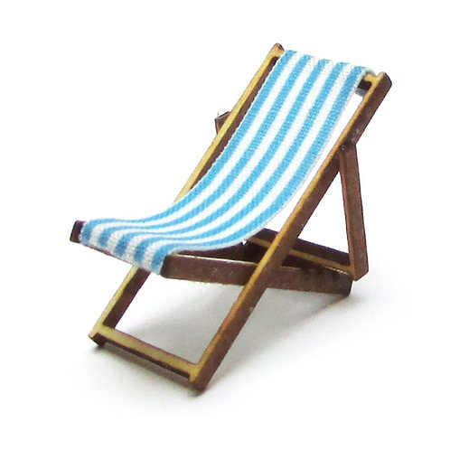 1/48th Scale Two Blue Deckchairs Kit