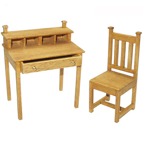 1/12th Scale Arts & Crafts Style Desk & Chair Kit
