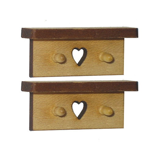 1/12th Scale Two Heart Hook Shelves Kit