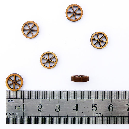 10mm Wooden Spoke Wheels