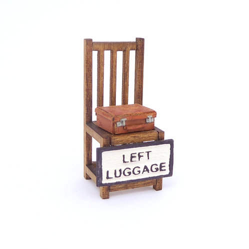 1/24th Scale Left Luggage Chair