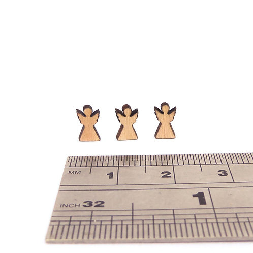 Small Wooden Angels (pack of 3)