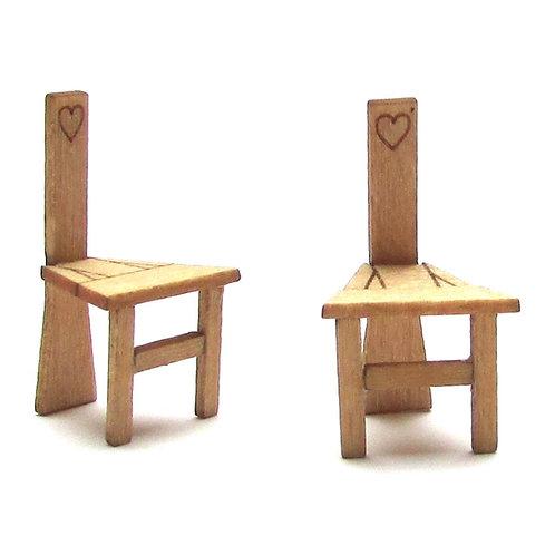 1/24th Scale Two Irish Sligo Chairs Kit