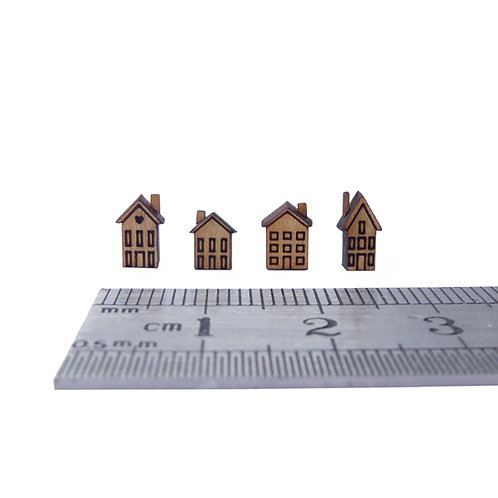 Set of Mini Chimney Houses Kit
