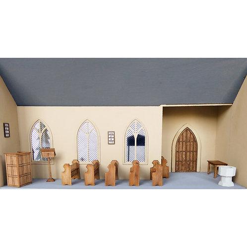 1/48th Scale Church Furniture Set Kit for St. Nicholas Church