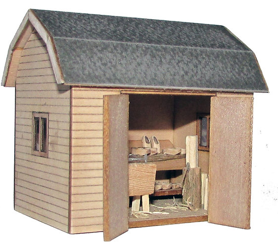 1/48th Scale Dutch Barn & Clog Maker's Workshop Kit