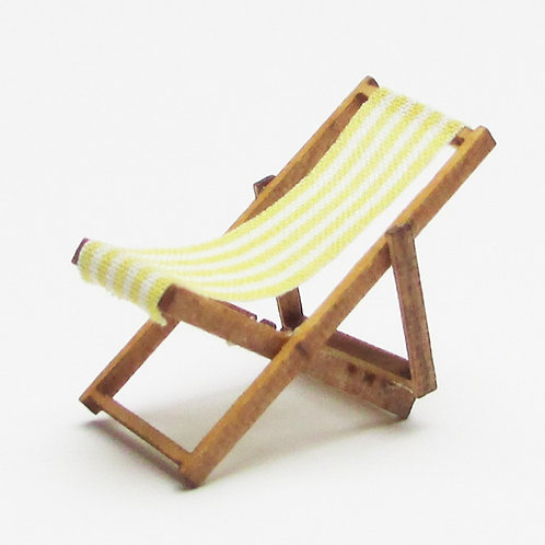 1/48th Scale Two Yellow Deckchairs Kit