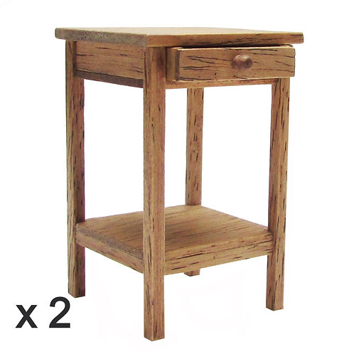 1/12th Scale Pair of Bedside Tables Kit