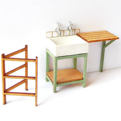 1/48th Scale Kitchen Sink Set Kit