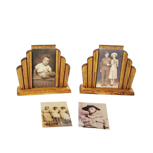 1/12th Scale Two Art Deco Style Photo Frames Kit