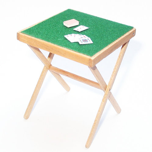 1/12th Scale Folding Card Table & Playing Cards Kit