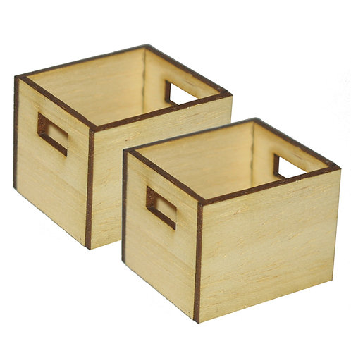 1/12th Scale Two Rustic Carry Boxes
