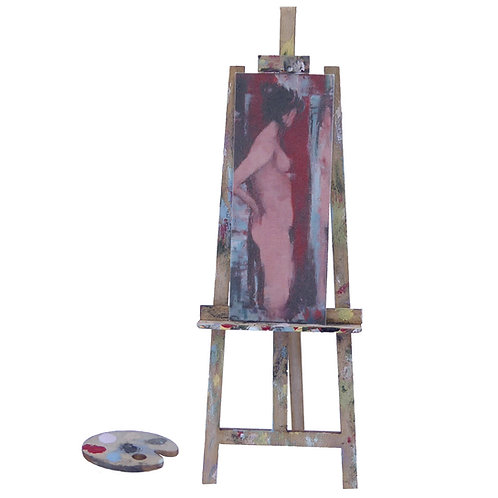 1/48th Scale Artist's Easel & Pallet Kit