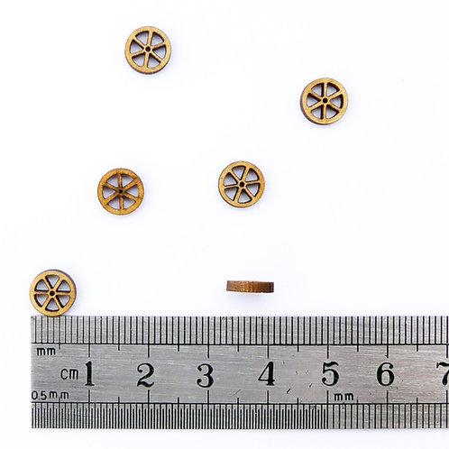 8mm Wooden Spoke Wheels