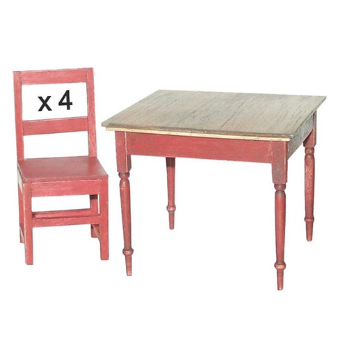 1/12th Scale Table & Four Chairs Kit