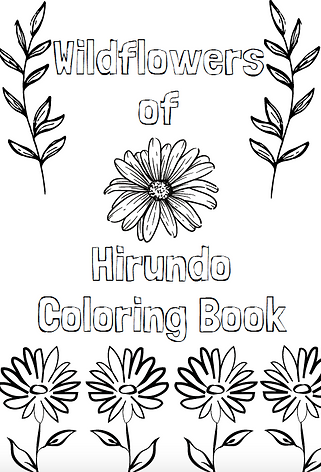 Hirundo Wildflower Coloring Book