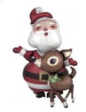 """Santa Reindeer Airwalker 54"""""""