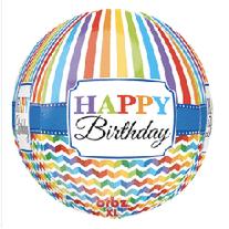 "Happy Birthday Orb 24"""
