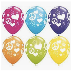 """Peace and Love Print 11"""""""
