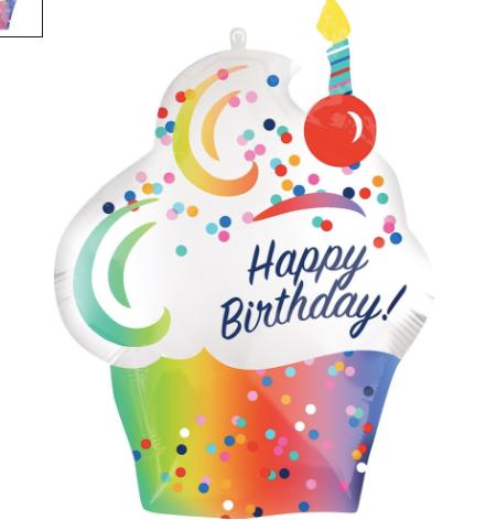 "28"" Happy Birthday CupCake New"