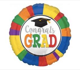 """18"""" Congrats Grad Colors wheel"""
