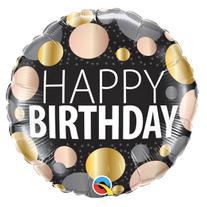 18_ Happy Birthday Gold Dots