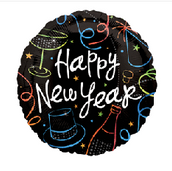 "18"" Happy New Year"