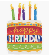 "Happy Birthday Candles 32"""