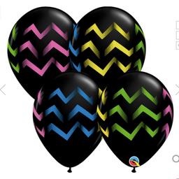"Black neon chevron stripes 11"""