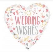 "18"" wedding wishes heart"