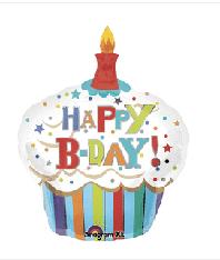 "Happy Birthday Cupcake 40"""