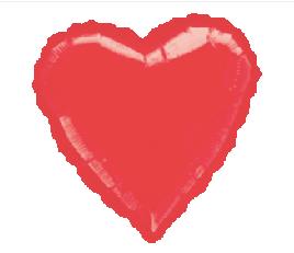 "19"" Metallic Red Heart"