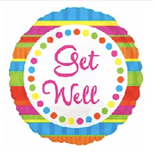 """18"""" Get Well color wheel dots"""