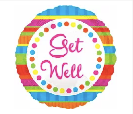 "18"" Get Well color wheel dots"