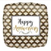 """18"""" Happy anniversary square"""