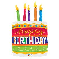"32"" Happy Birthday Cake candles"