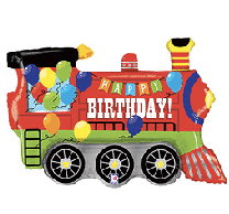 "Happy Birthday Party Train 36"""