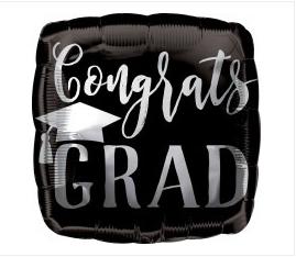 "18"" Congrats Grad Square"