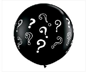 "Question Mark Black 36"""