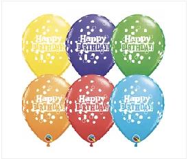 "Happy Birthday Printed Dots 11"""